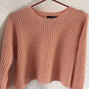 Tops - Pink Knit Crop Top